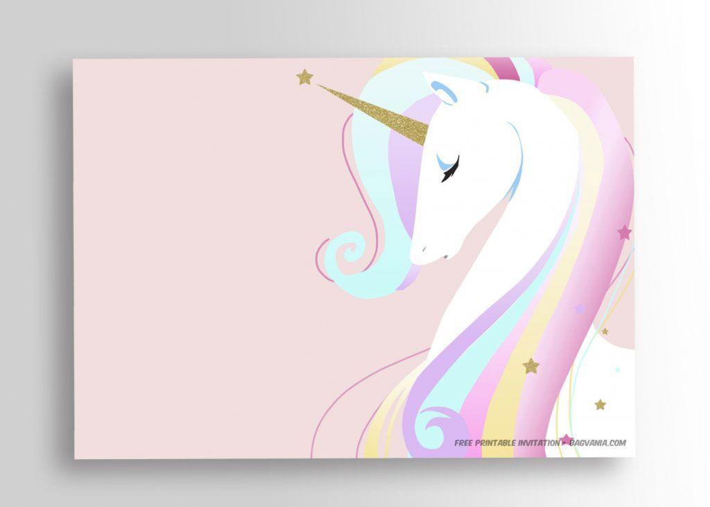 Unicorn Birthday Invitation Free Download