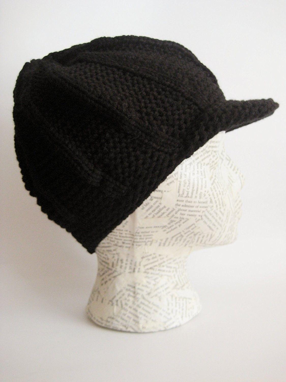 Winter Hat For Women Visor Beanie Chunky Knit Black C311b2no5vl Winter Hats For Women Hats For Women Visor Beanie