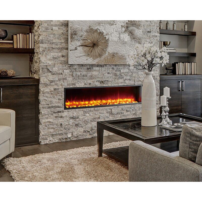 Belden Recessed Wall Mounted Electric Fireplace Built In Electric Fireplace Electric Fireplace Stone Fireplace Wall