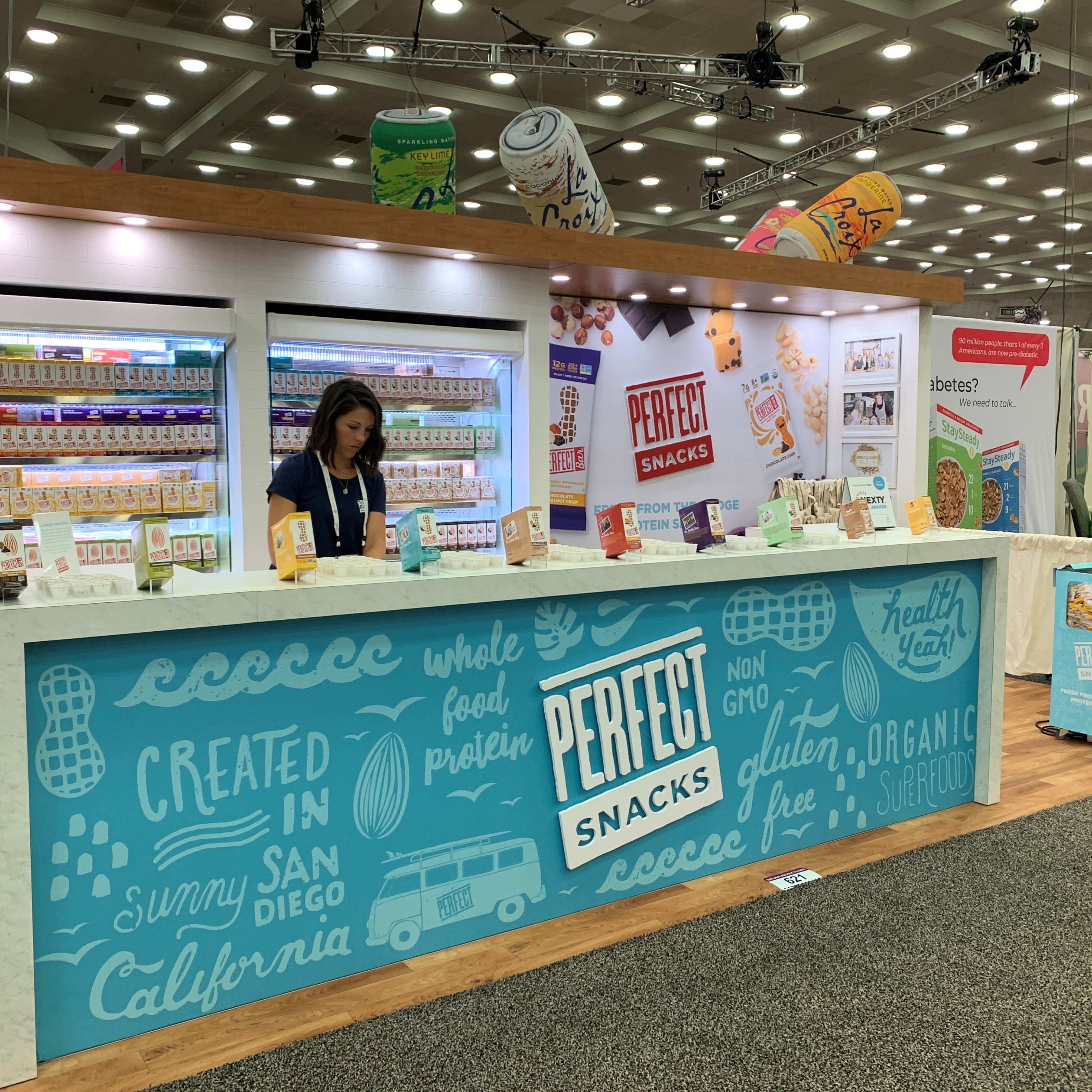 10×20 Food Inline Display Counter. Natural Products Expo