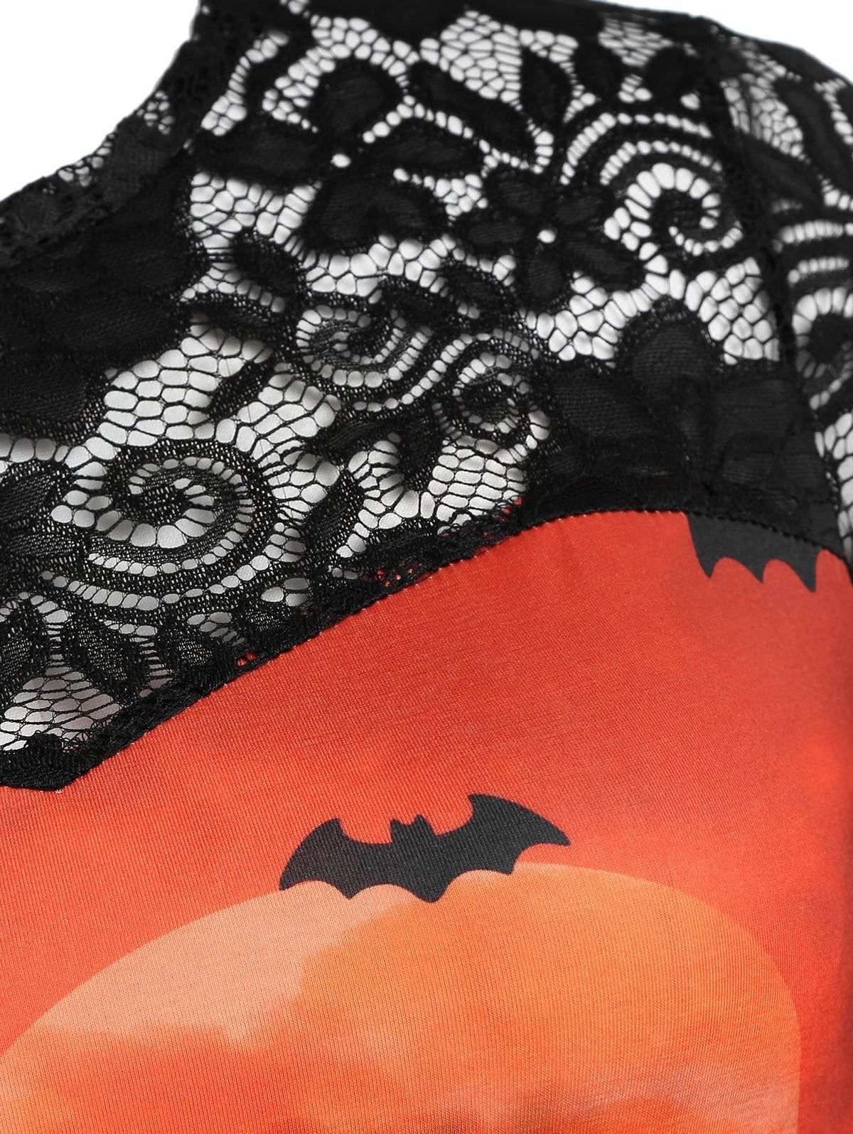 Women Halloween Skull Print Blouses Long Sleeve Off Shoulder Shirt Tops Plus New