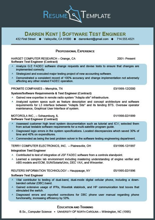 Professional science resume template SCIENCE Pinterest - computer science resume template