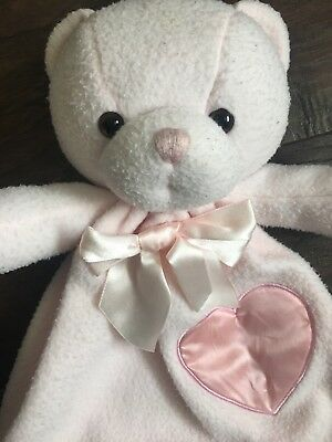 Dakin Pink Heart Bernhardt Bear Security Blanket Satin Lovey Applause Plush #securityblankets