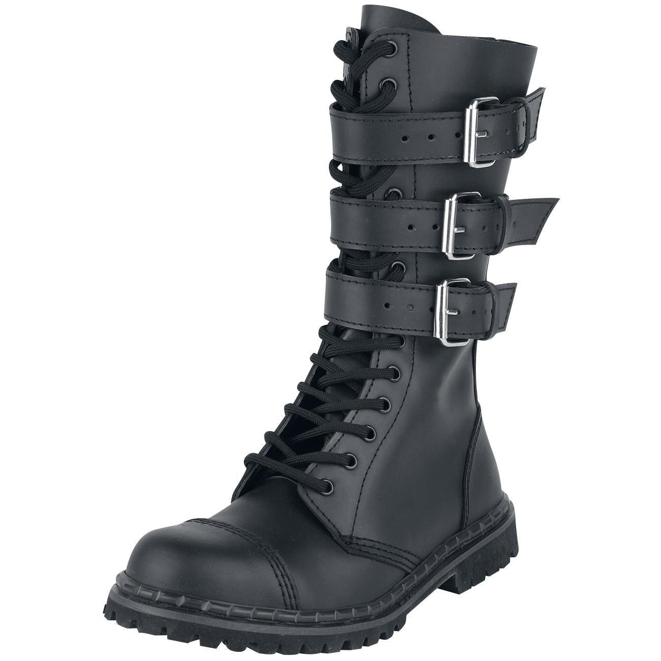 Zapatos negros estilo militar Brandit para hombre xAM3M