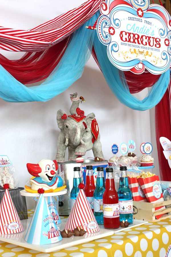 Circus party printables and party ideas. Make a canopy top for a cute and memorable  sc 1 st  Pinterest & Circus party printables and party ideas. Make a canopy top for a ...
