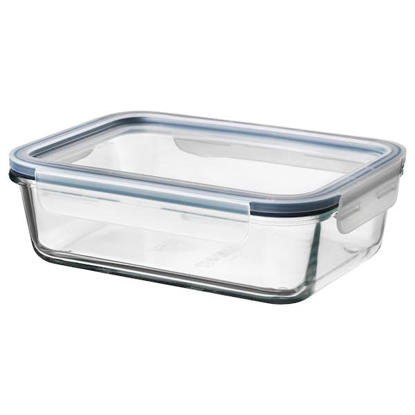 Ikea 365 Food Container With Lid Rectangular Glass Plastic Glass Length 8 Width 6 Volume 34 Oz Shop Today Ikea In 2020 Food Containers Glass Food Storage Ikea 365