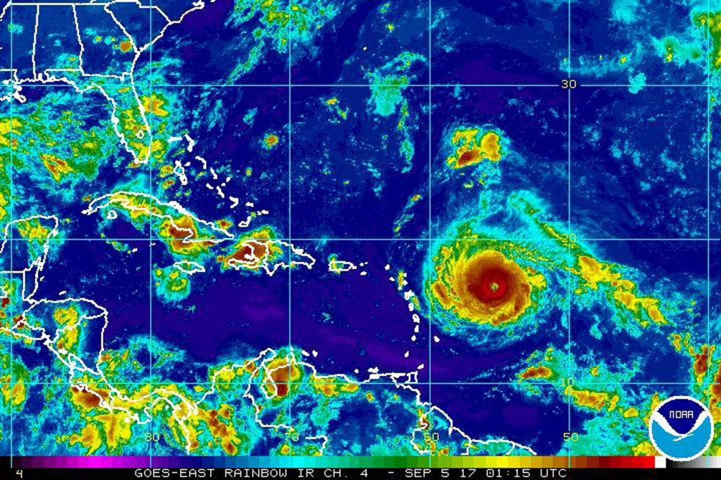 Forecasters Called Irma One Of The Strongest Hurricanes Ever Recorded In The Atlantic National Hurricane Center Hurricane Leeward Islands
