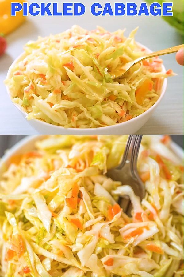 This light and healthy pickled cabbage recipe is mildly acidic and full of flavor The cabbage will soften slightly but retain the crunch that will add texture to any meal...