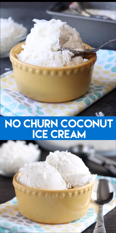 2-Ingredient No Churn Coconut Ice Cream