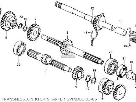 Honda Ct110 Trail 110 1986 Usa Transmission Kick Starter