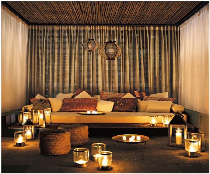 glamorous moroccan room design with luxurious decoration : amazing