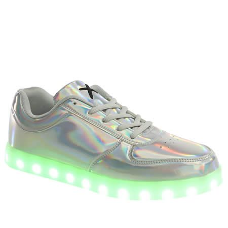 Womens Silver Wize & Ope Pop Led Trainers | schuh