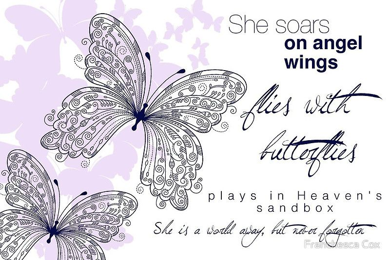 angel wings sympathy quote for loss of child loss of