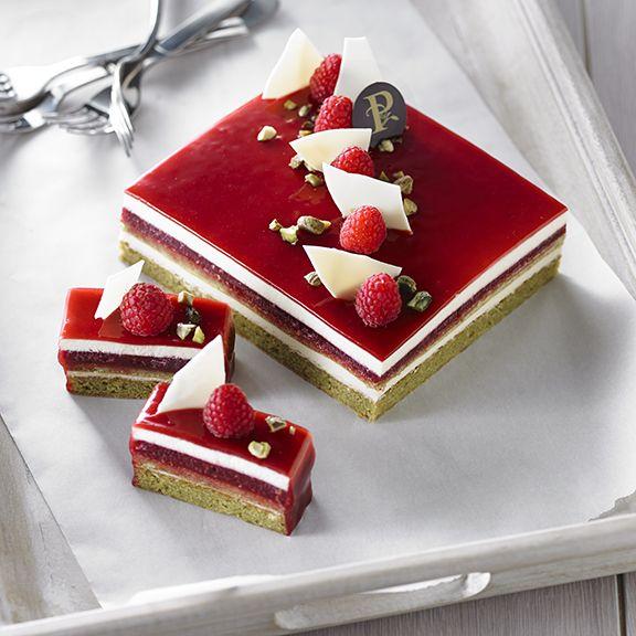 Gateau chocolat fraise pistache
