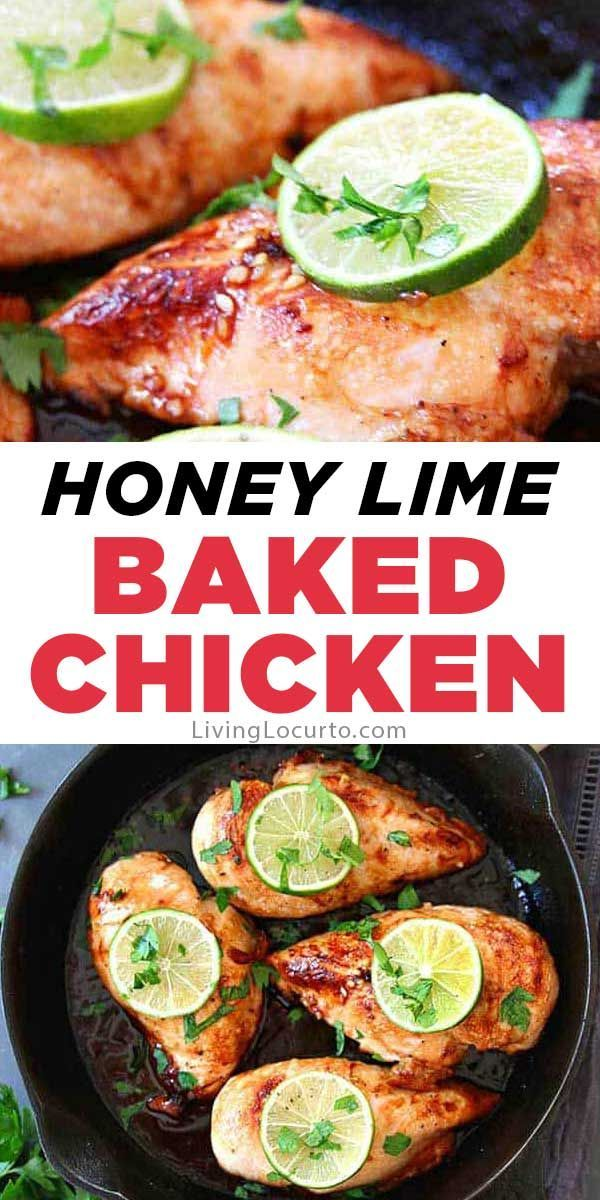 Honey Lime Baked Chicken  - Living Locurto Recipes & Party Crafts -