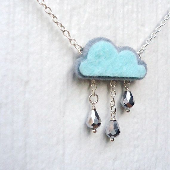 When it rains it pours!  Such a cute necklace.  #child #children #necklace #accessories #fashion #shopping #little girl