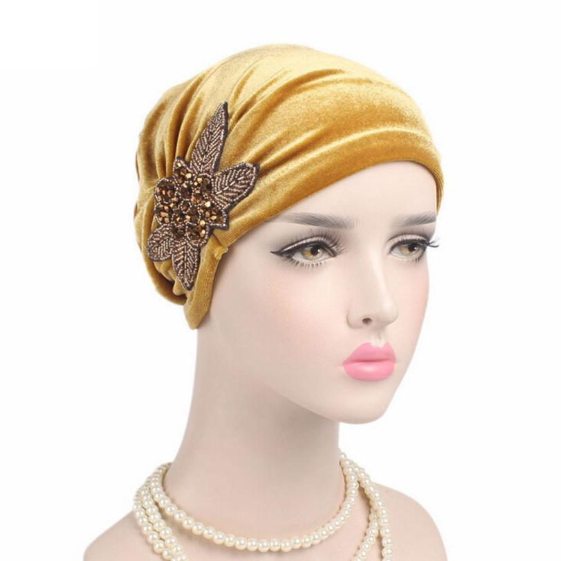 0c23452641222 Hot Sale Women Cancer Chemo Hat Beanie Turban Velvet