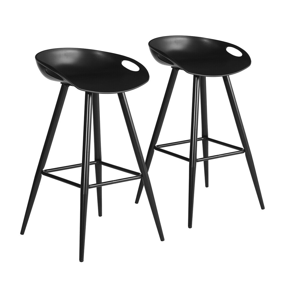 Details About Low Back Fixed Height Bar Stool Modern Design Bar