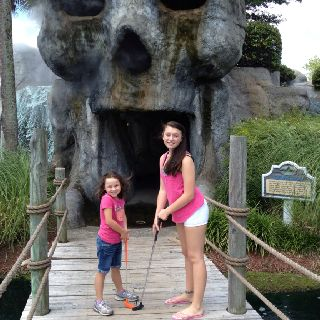 Playing Miniature Golf At Pirate S Cove