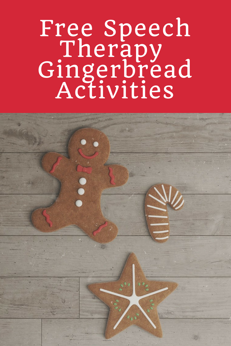 Free Speech Therapy Gingerbread Man Activities Creating