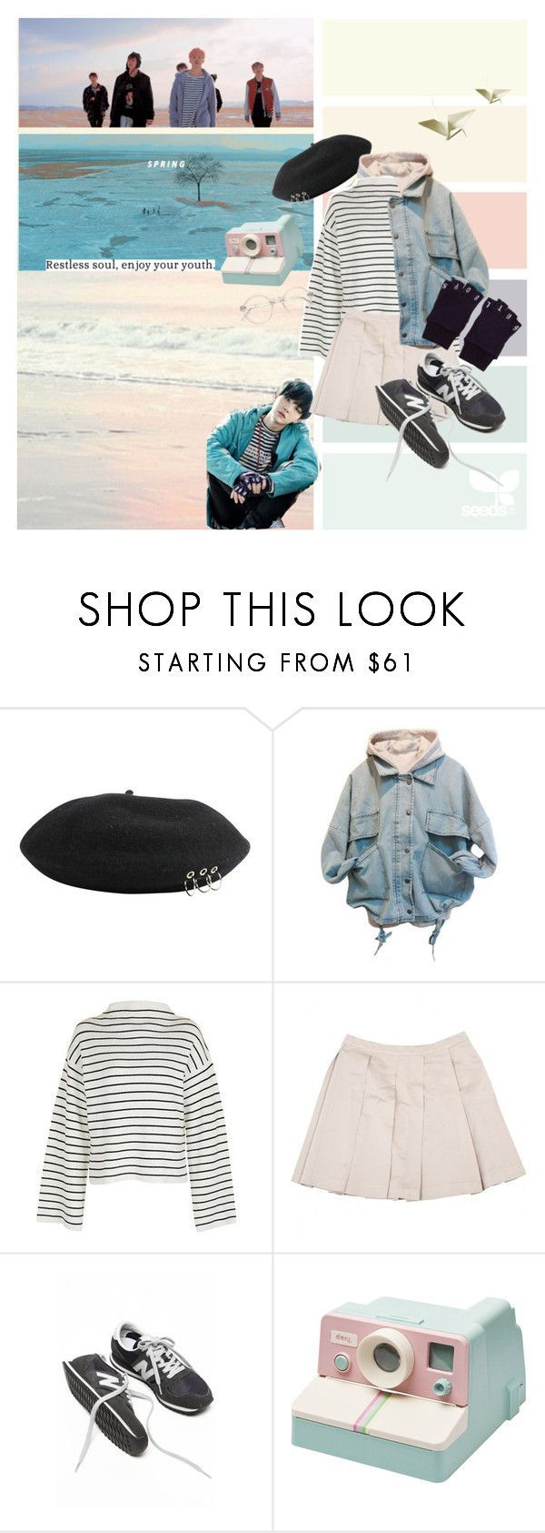 spring day  by delightedhearts ❤ liked on Polyvore featuring GET LOST, Topshop, Miu Miu, pastel, korean, bts and Suga is part of Fashion outfits -