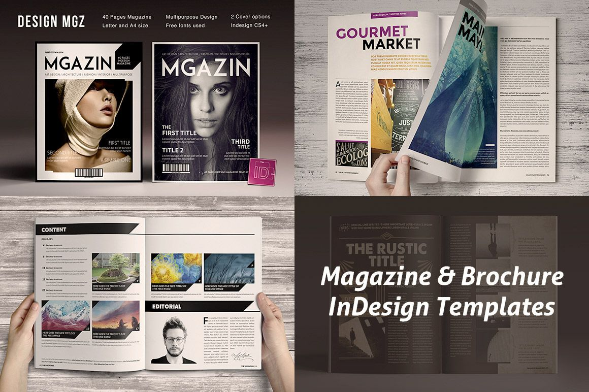 Magazine & Brochure InDesign Templates on Behance | graphics | Pinterest