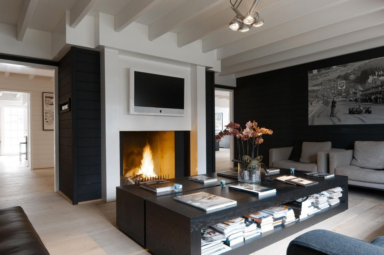 modern black and white lounge living room #decor #interiors