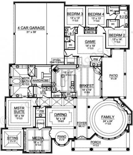 Gray Ridge House Plan European French First Floor Plan