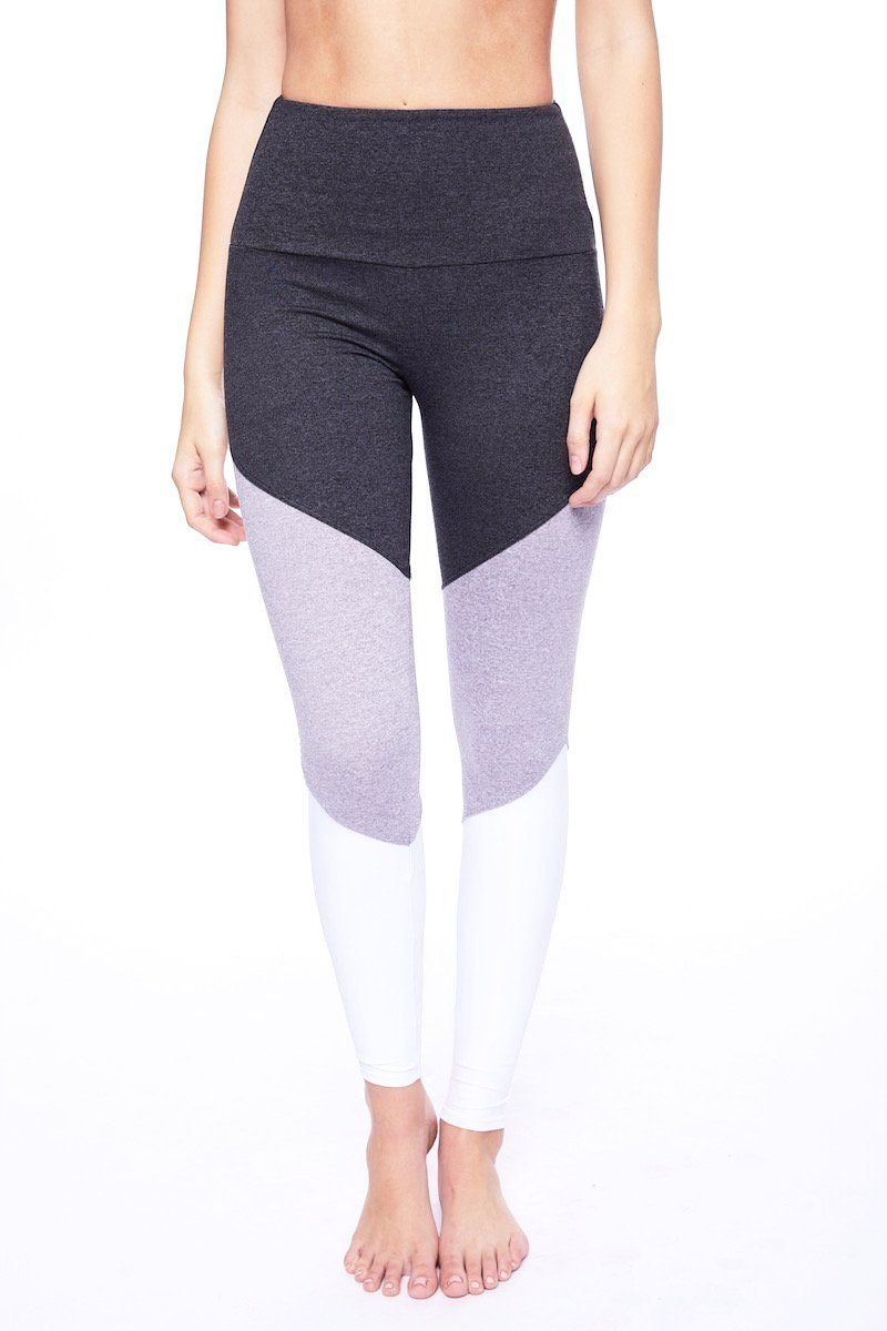 b41e0bcae8e91e The Onzie High Rise Track Legging is a color blocked legging with slimming  lines and striking colors. The high rise covers the hip area and lands just  below ...