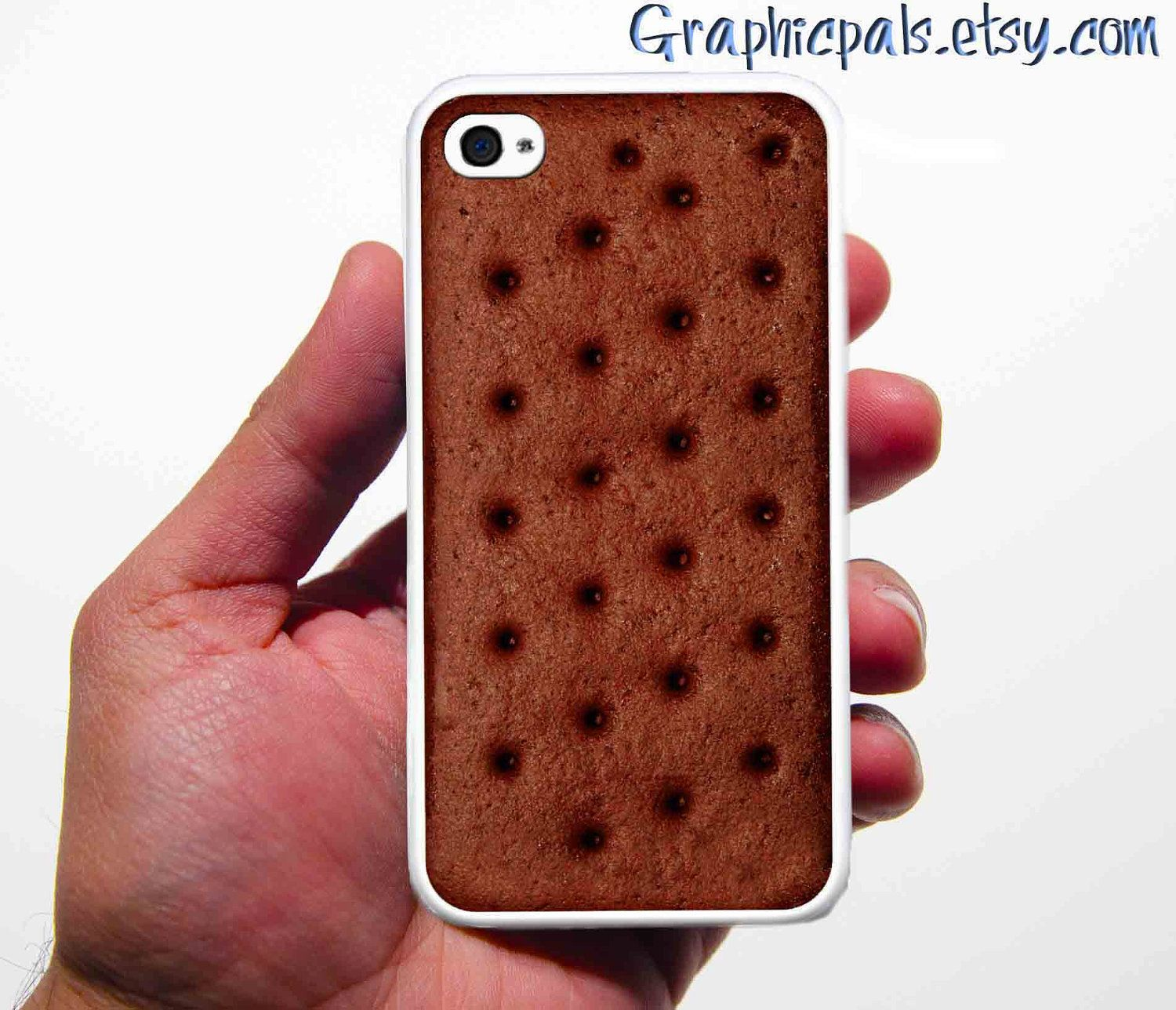 Ice Cream Sandwich  iPhone Silicone Rubber.