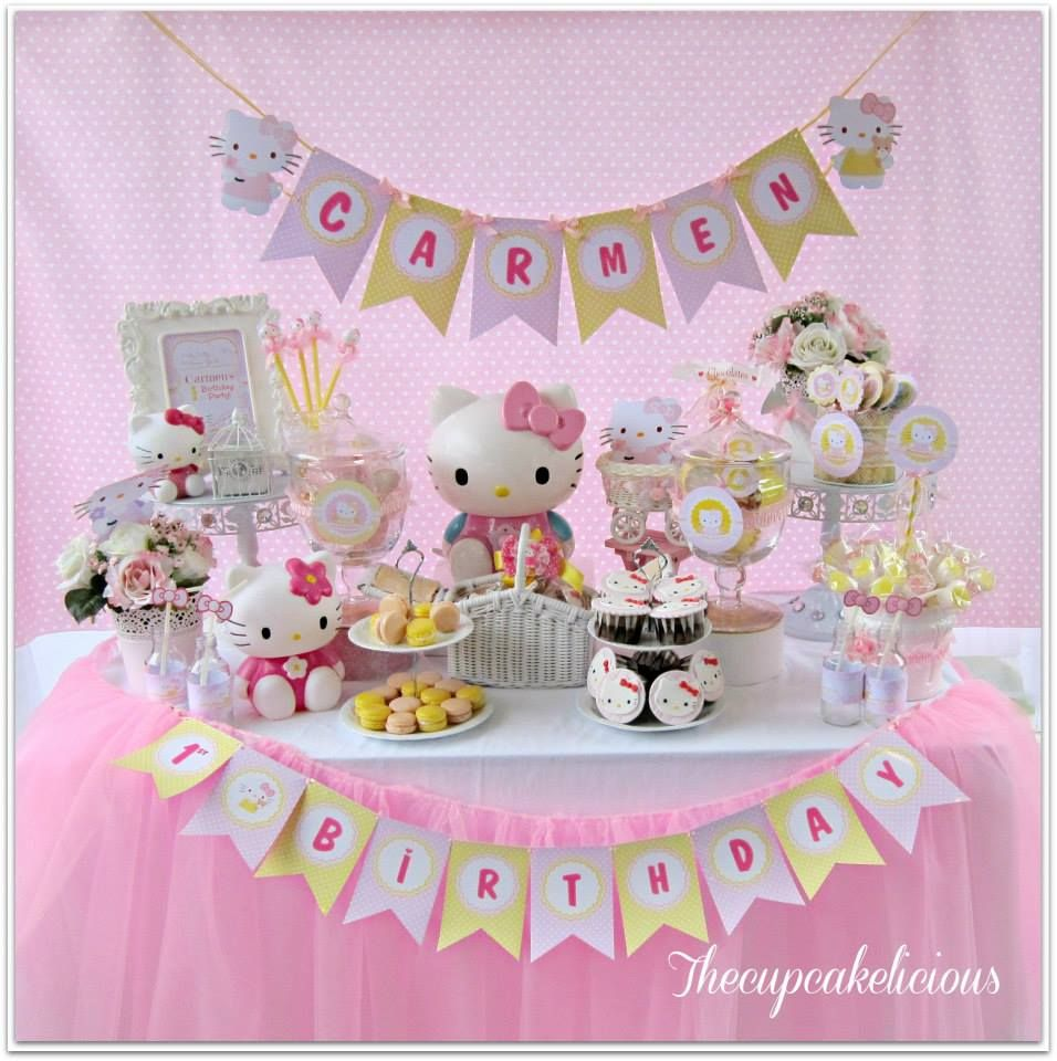 Hello Kitty Party Children party inspiration Pinterest Kitty