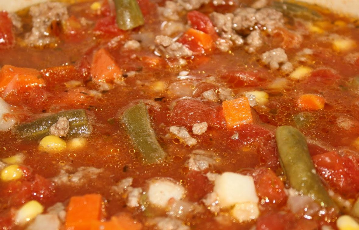 Really Easy Paleo Ground Beef And Vegetable Soup Crockpot Ultimate Diet Recipes Beef Soup Recipes Paleo Ground Beef Slow Cooker Vegetable Recipes
