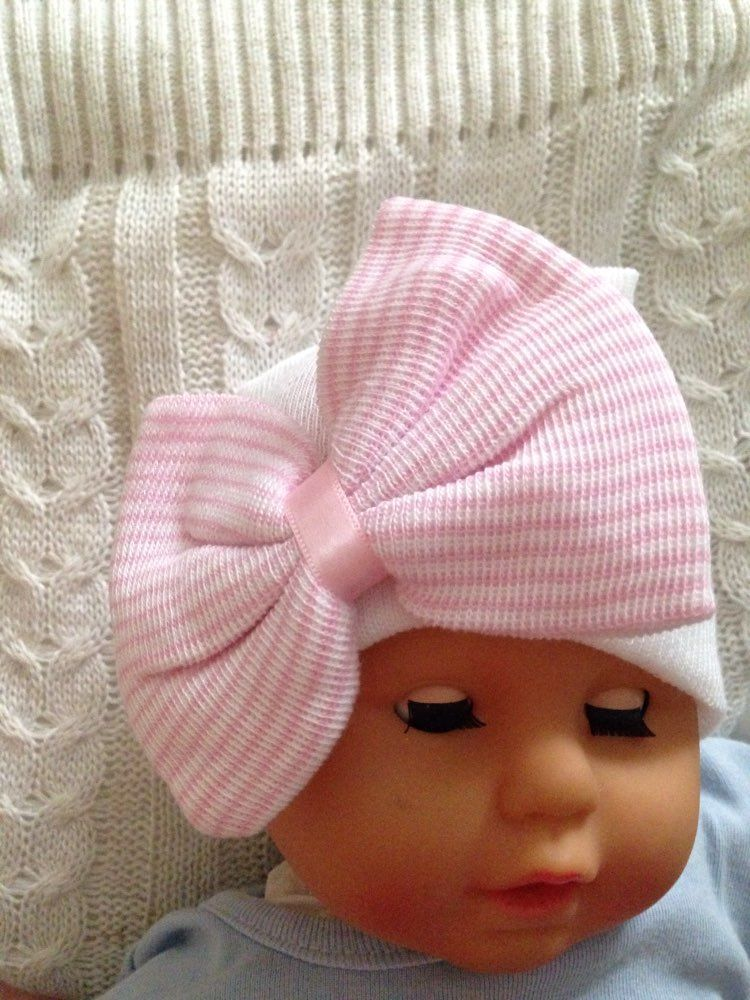 0a425564090 Nice Newborn Hat With Bow Baby Hats