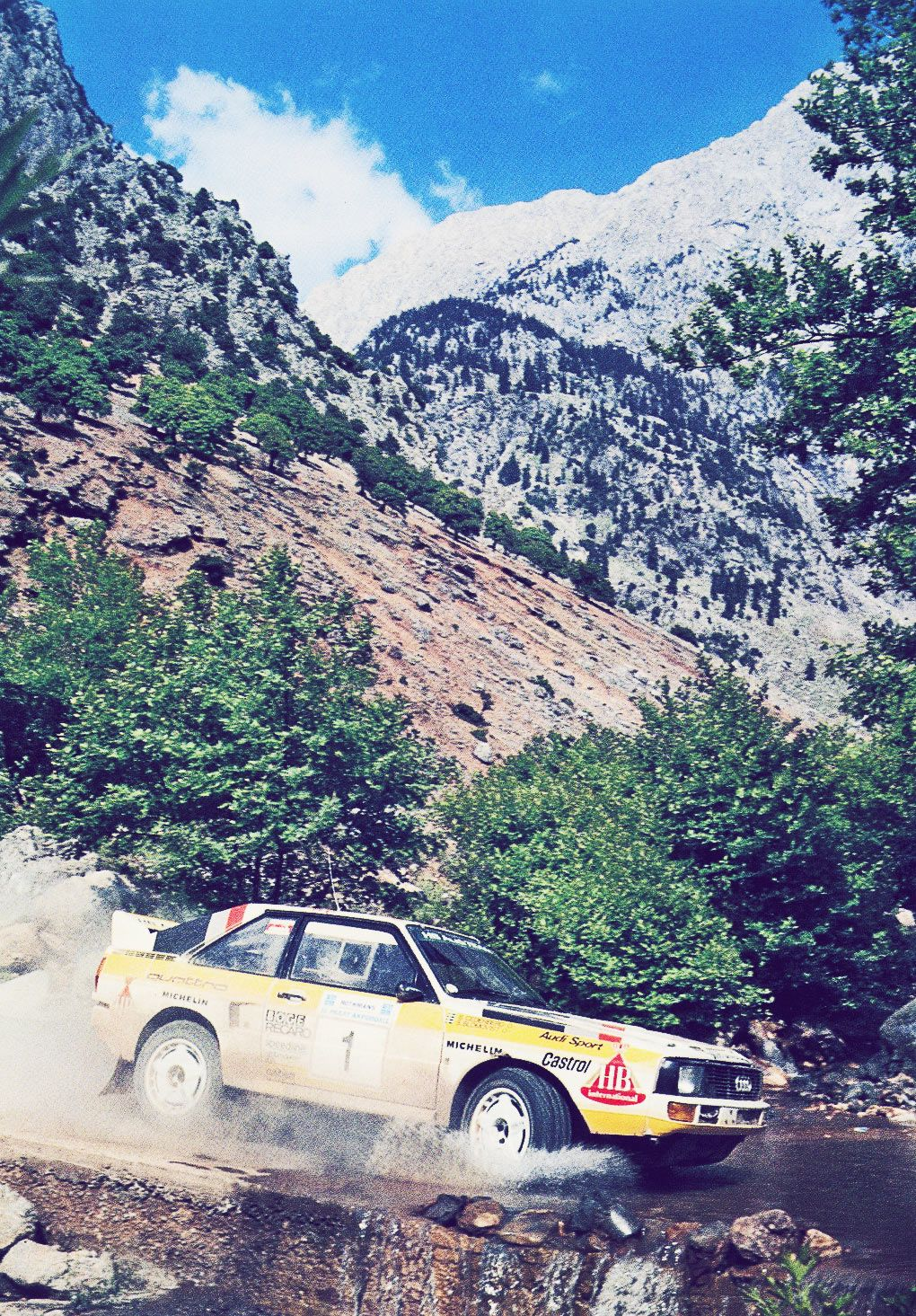 Audi Quattro Sport rally car - Group B