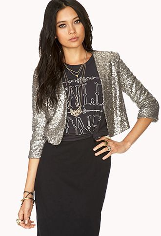 cc81fd50 Showstopper Sequin Cropped Jacket | FOREVER21 - 2000090919 | My ...