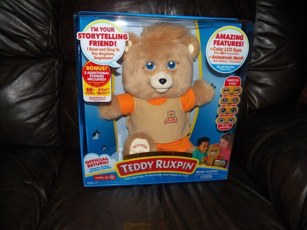 Exclusive TEDDY RUXPIN Story Telling Teddy Bear Bonus Books Bluetooth