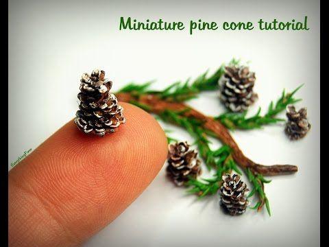 Miniature Pine Cone Tutorial (Creating Dollhouse Miniatures) #dollhouseminiaturetutorials