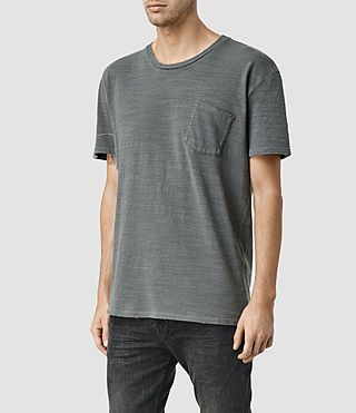 ALLSAINTS UK: Mens Gibbs Crew T-Shirt (Washed Black)