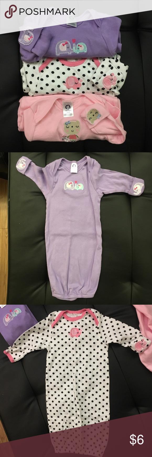 Sleep gown bundle 0-6 month bundle of Gerber sleep gowns. All soft ...