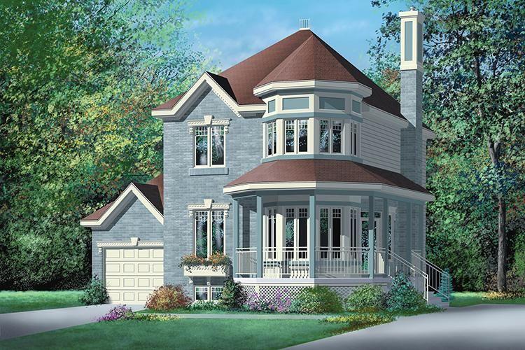House Plan 2559 00204 Narrow Lot Plan 1 203 Square Feet 2 Bedrooms 2 Bathrooms Victorian House Plans Victorian Homes Small House Design Plans