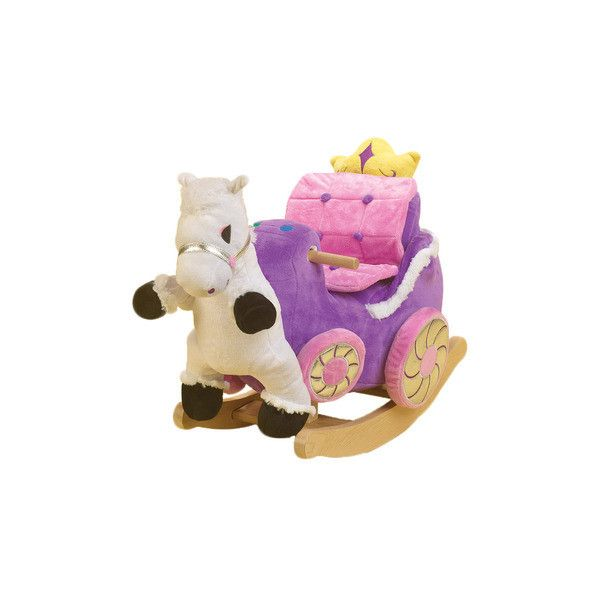 Princess Carriage Rocker ❤ liked on Polyvore featuring home, children's room, children's furniture and toy