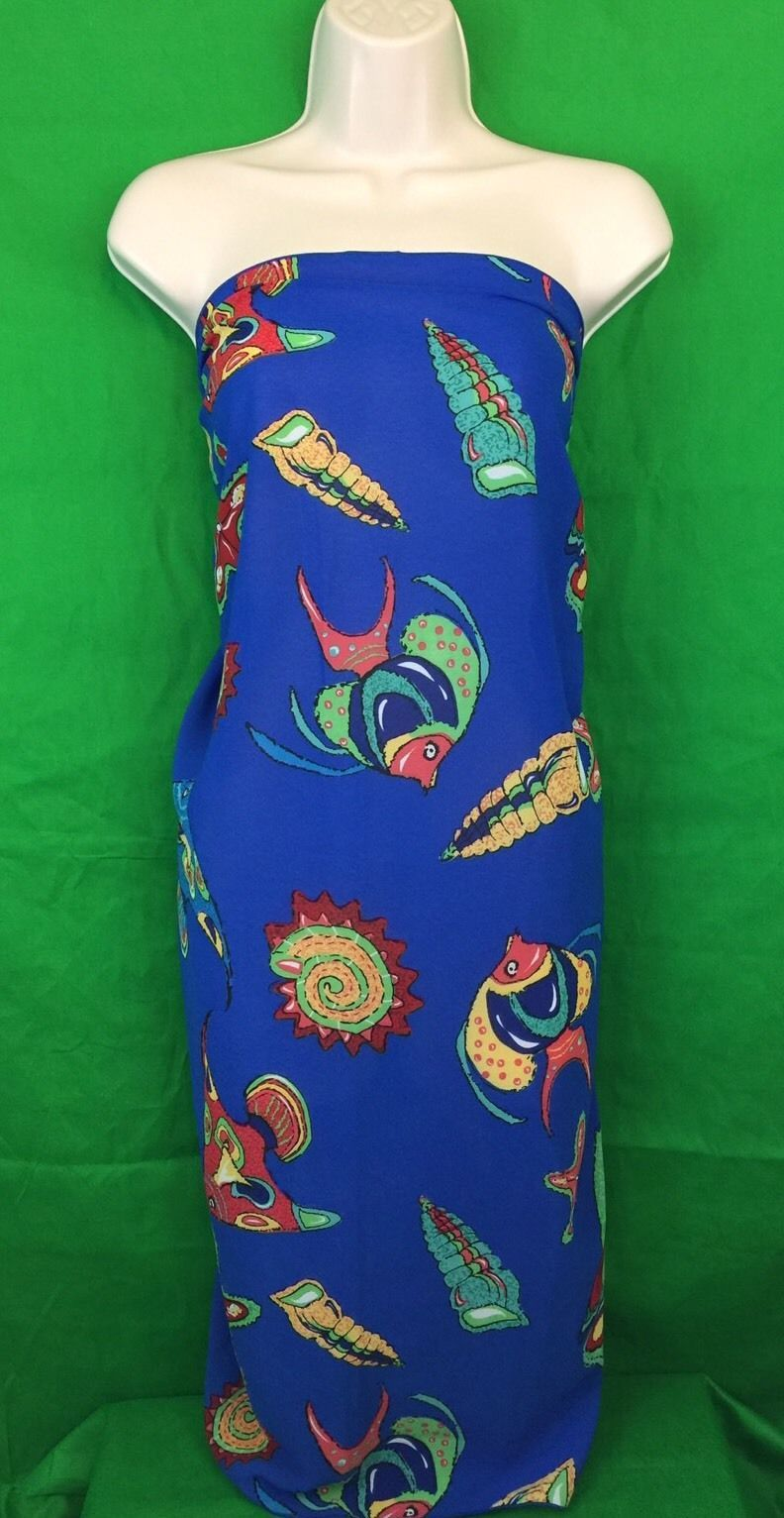 Westbound Blue Tropical Fish Beach, Pool, Sarong, Wrap, Coverup. Sarong can be worn in several different styles. View pictures for details. Good preowned condition, missing label.   eBay!