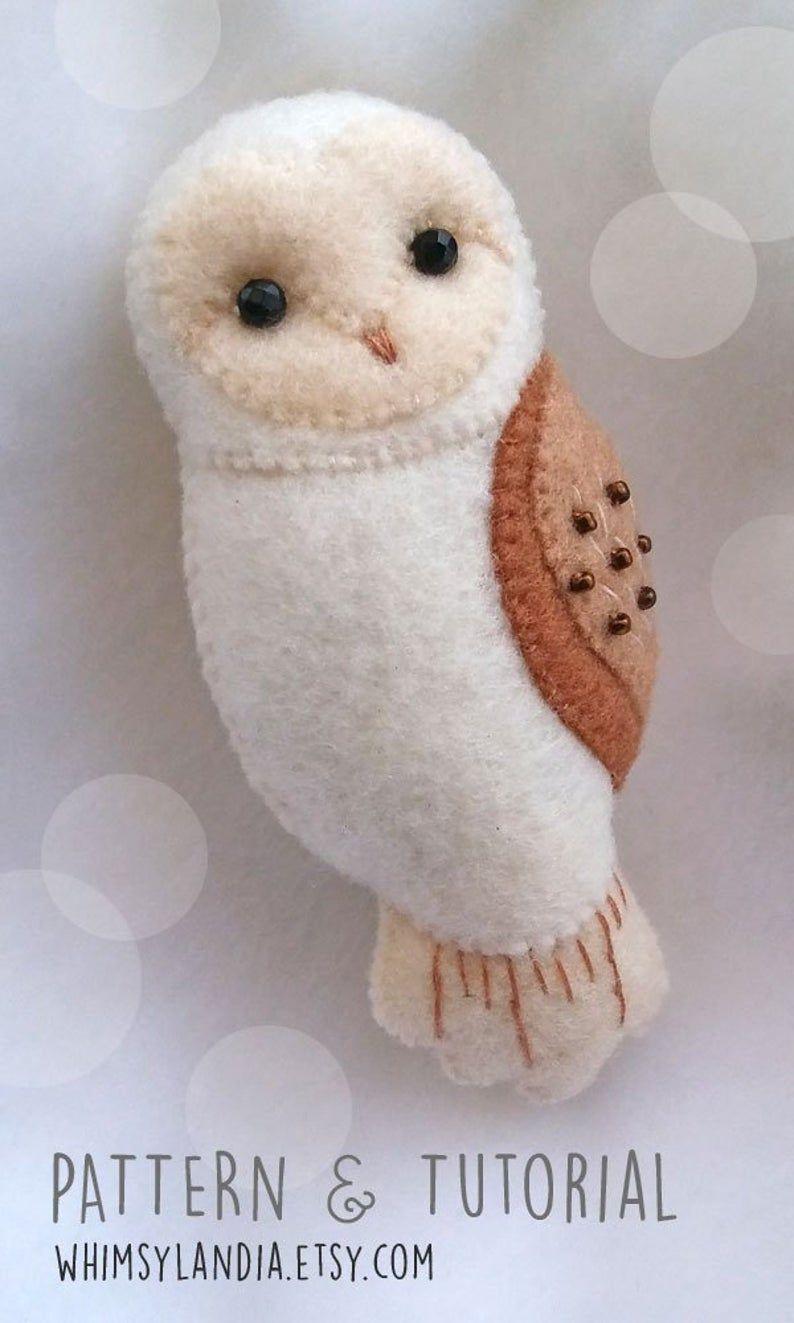 Pdf Pattern Of Barn Owl Felt Brooch Ornament Woodland Felt Etsy In 2020 Felt Animal Patterns Felt Crafts Patterns Felt Owls