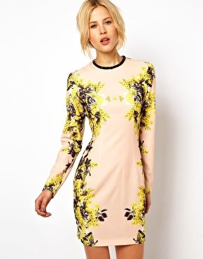 ASOS Shift Dress In Rose Mirror Floral- Just bought this for a wedding I have in April :)