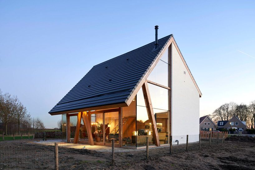 Rv Architecture Completes Gabled Roof Wooden Barnhouse In Werkhoven The Netherlands Dwelling Small House Design Architecture Residential Architecture