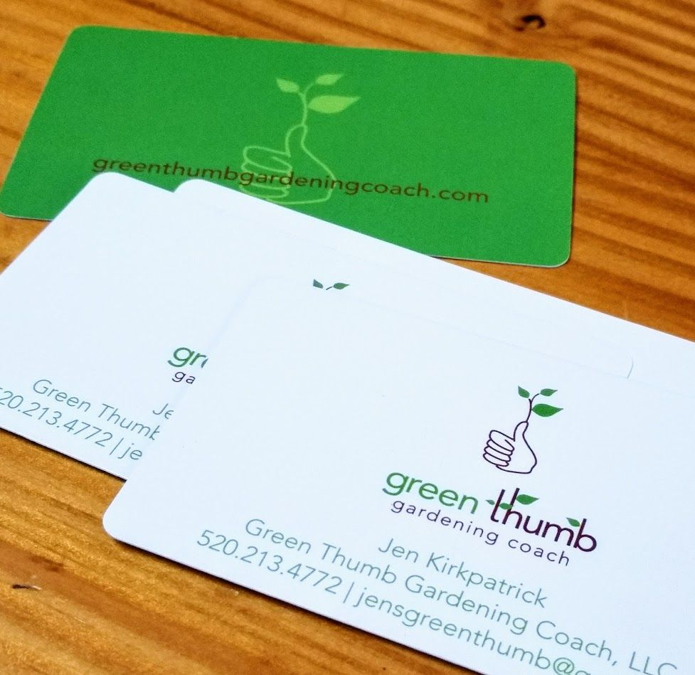 Green thumb gardening coach logo and business card design what green thumb gardening coach logo and business card design what were doing pinterest business cards magicingreecefo Image collections