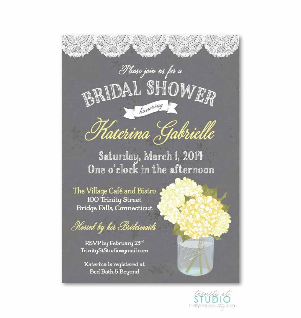 Bridal Shower Invitation Vintage Mason Jar and