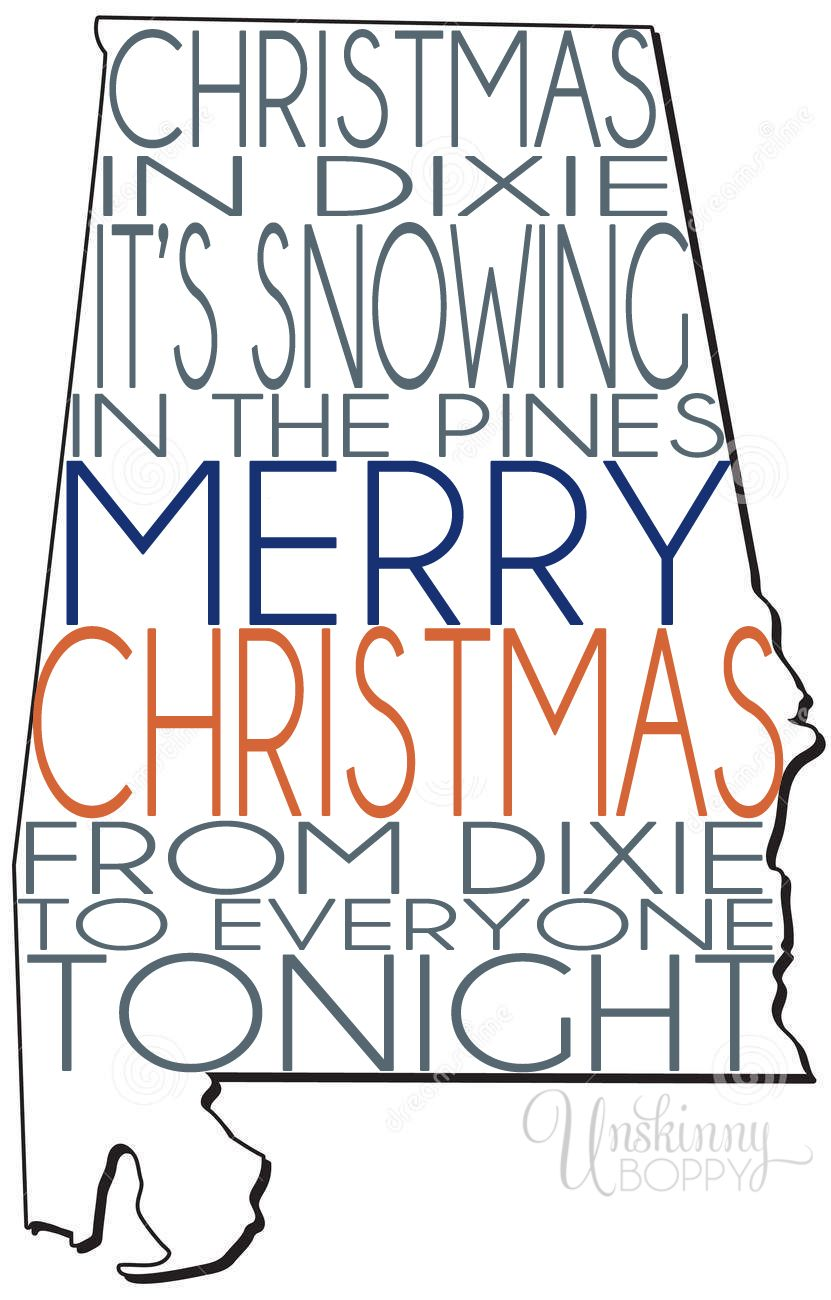 Christmas In Dixie Svg.Christmas In Dixie Alabama Southern Christmas Little