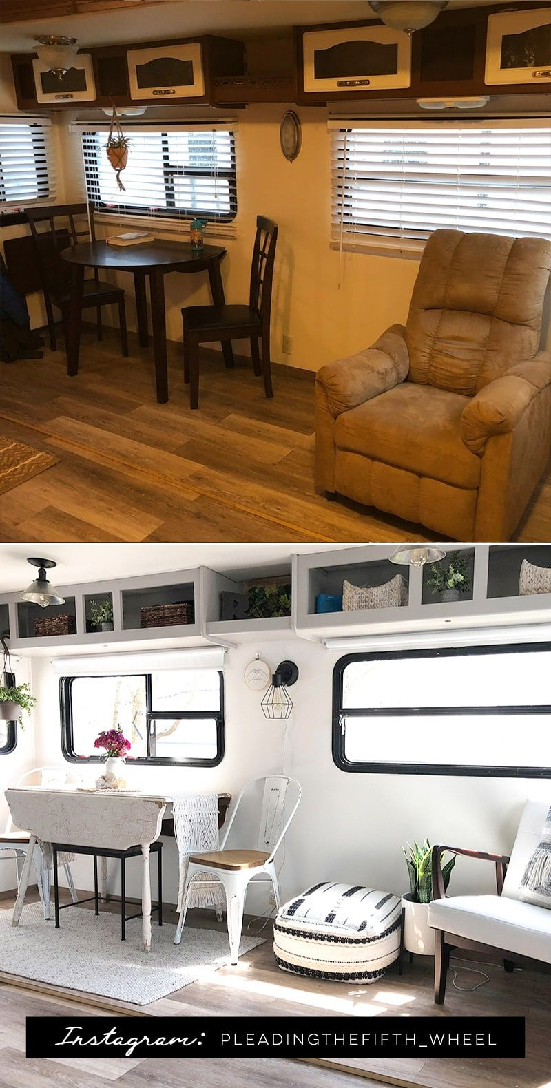 rv tour featuring pleadingthefifth wheel rustic outdoor kitchens tiny spaces remodeled campers on outdoor kitchen on wheels id=11280