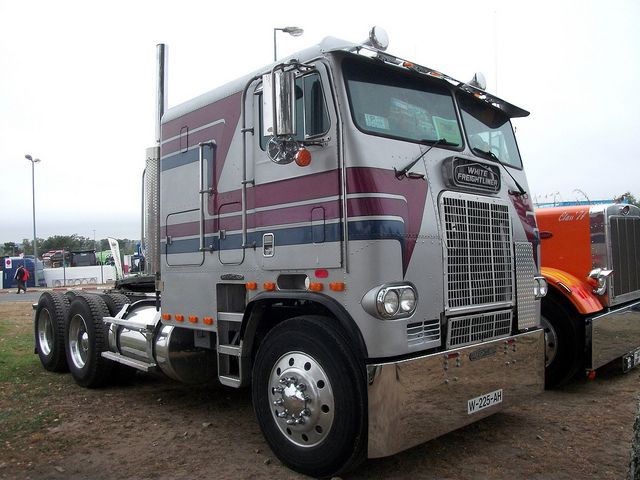 Tracteur White Freightliner Cabover Old Sckool Trucks Trucks